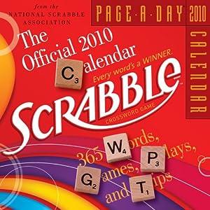 Scrabble desk calendar