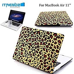 Macbook Air 11 Inch Case, iTrendz Cheetah Hard Case Cover With Keyboard Silicone Cover For Apple Macbook Air 11\