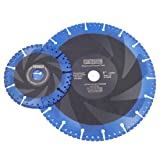 DT-DIATOOL Metal Cutting Discs Set Diam 5 Inch and 9 Inch - All Purpose Diamond Cut-Off Wheel for Steel Pipe Stone Reinforced Concrete Iron (Color: Black and Blue, Tamaño: 5 inch and 9 inch)
