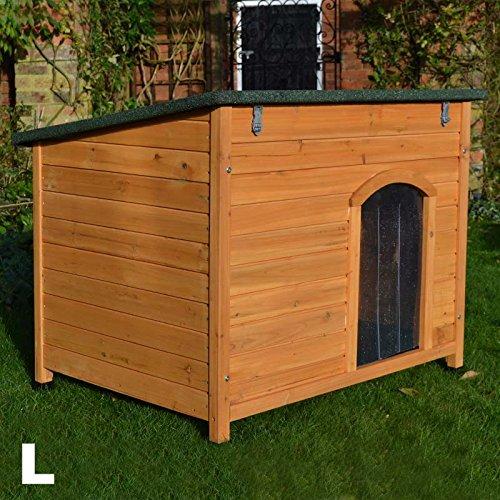 Feelgooduk large dog kennel sloped roof wooden kennels dog for Best deals on dog kennels