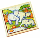 Voila Wooden Safari Jigsaw Elephant