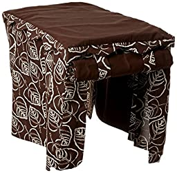 Snoozer Cabana Pet Crate Cover, Large, Brown Leaf