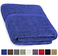 Cotton Luxury Bath Sheet Royal-Blue -…