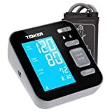 TENKER Upper Arm Home Blood Pressure Monitor with Cuff That fits Standard and Large Arms (Tamaño: large)