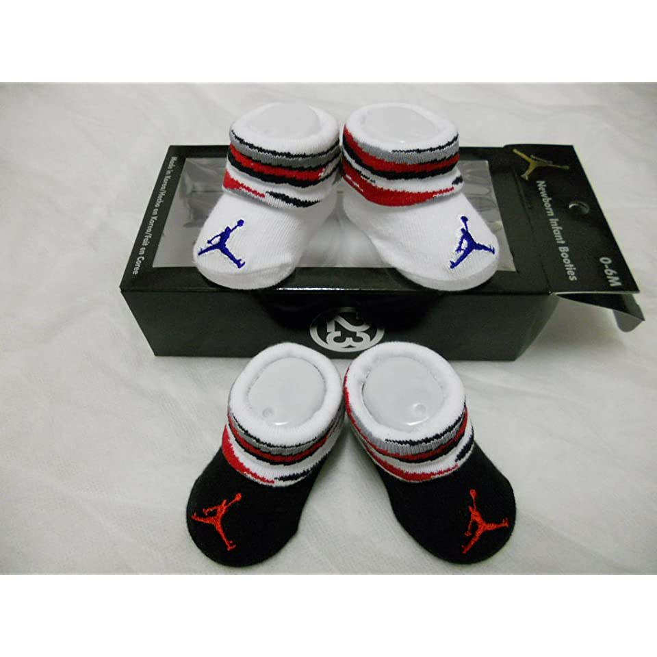 f74d7d78e Baby Nike Air Jordan Booties Socks Crib Shoes 0 6M Baby Socks Gift ...