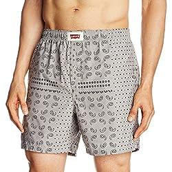 Levi's  Men's Cotton Boxer (6901462128018_200 SF-Chambrey_Large_Gray-Bandana Print)