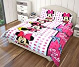 Just Linen 200 TC Pair of Animation Stripe Printed Micro Poly Single Size Flat Bedsheets With Pillow Covers