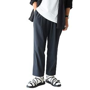 [ヘルス] HEALTH ワイドシルエット イージーパンツ Easy Pants#2 ワンタック メンズ ボトムス HP20-201