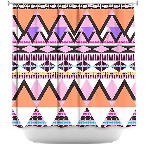 Shower Curtain Artistic Designer from DiaNoche Designs Stylish, Decorative, Unique, Cool, Fun, Funky Bathroom - Colorful Dream Nativo