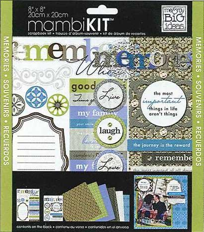 Me and My BIG Ideas PK-295 8-Inch by 8-Inch Scrapbook Page Kit, Sophisticated Memories
