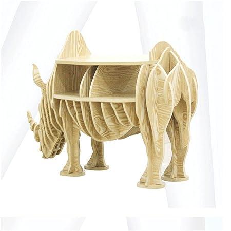 WSZYD Nórdicos creativas rinoceronte animales estanterías rhino lado varias tapicería 120 * 46cm ( Color : C )