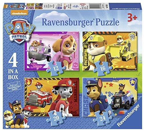 Paw Patrol - Puzzle progresivo, 12-16-20-24 (Ravensburger 641317)