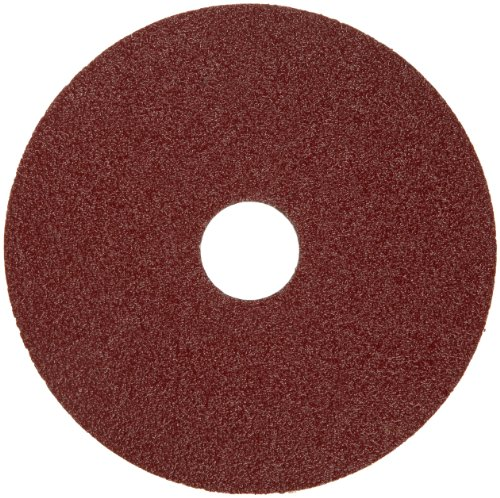 "Merit Resin Abrasive Disc, Fiber Backing, Ceramic Aluminum Oxide, 7/8"" Arbor, 4-1/2"" Diameter, Grit 60 (Box of 25)"