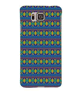 Indian Jaipuri Pattern 3D Hard Polycarbonate Designer Back Case Cover for Samsung Galaxy Alpha G850