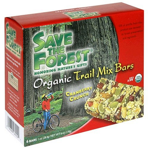 Buy Save The Forest Organic Cranberry Crunch Trail Mix Bar, 6-Count Box (Pack of 6) (Save the Forest, Health & Personal Care, Products, Food & Snacks, Snacks Cookies & Candy, Snack Food, Trail Mix)