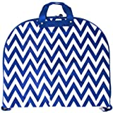 Ever Moda Royal Blue Chevron 40-inch Hanging Garment Bag