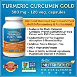 Nutrigold Turmeric Curcumin Gold (Features C3 Complex w/ BioPerine), 500 mg, 120 veg. capsules