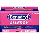 Benadryl Allergy Ultratab Tablets, 100 Count