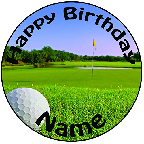 personalised-golf-ball-in-hole-cake-topper-a-pre-cut-round-8-20cm-icing-decoration