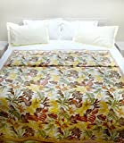 100% Cotton Single Duvet Cover (90 x 61 Inches)(Lemon)(4102)