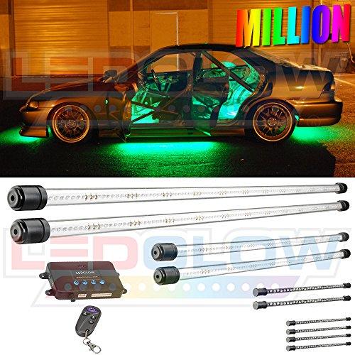 10Pc Million Color Wireless Led Underbody & Interior Kit