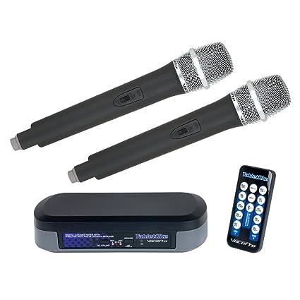 VocoPro TabletOke | Digital Karaoke Mixer with Wireless Mics Bluetooth Receiver