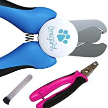 OmegaPet Best Dog Nail Clippers with Quick Sensor