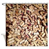 CafePress - Wine Corks Shower Curtain - Decorative Fabric Shower Curtain