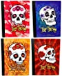 Day of the Dead, Dia De Los Muertos Skull Composition Notebooks (4 Pack)