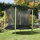 TP Toys Surroundsafe 6ft Big Bouncer Trampoline - 6ft Trampoline with Cover, Ladder - Green - Outdoor Garden Toy - Zip Door - Low Frame - Small Trampoline for Kids