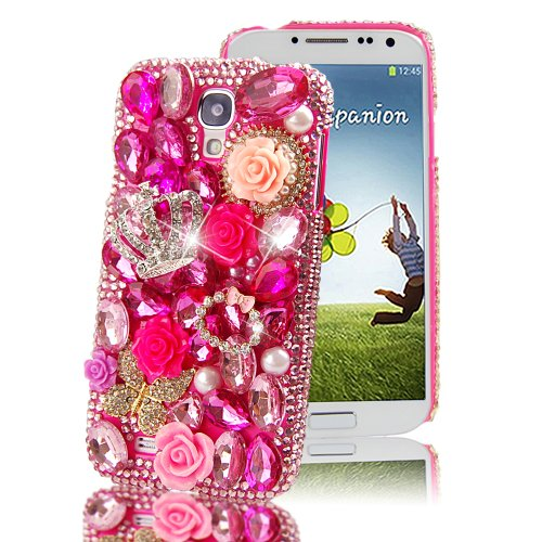 The BlingBling 3D Bling Glitter Rhinestone Diamante And Butterfly Flowers With Grown Case Cover For Samsung Galaxy... Black Friday & Cyber Monday 2014