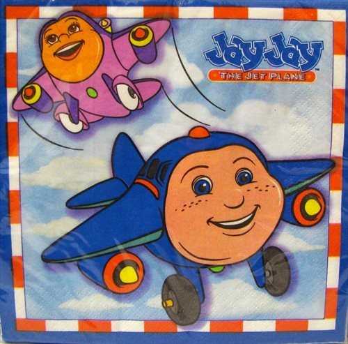 Jay Jay The Jet Plane Small Napkins (16ct) - 1