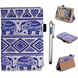 Amazon Kindle Fire HD 7 case, Vogue shop Ultra Slim Premium PU Leather Folio Protective Stand Case with Magnetic Closure for Amazon Kindle Fire HD 7 SmartShell Cover for Amazon Fire HD 7 4th Generation (2014) (2014 Oct Release) (With Smart Cover Auto Wake / Sleep) (elephant)