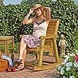 Schaukelstuhl Rustikal aus Holz f�r den Garten von Gartenpirat�