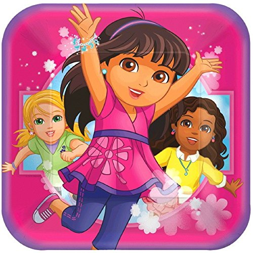 Amscan Dora and Friends Square Lunch Plates