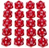 DICE 20-Sided (Polyhedral) RED Transp…
