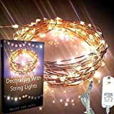 Starry Lights Premium 20Ft with 120 Leds Warm White Color. The Ultra-thin Flexible Copper Wire for Wrapping Around Christmas Tree. Plus String Light Decoration E-book. 110 / 240 V Power Plug