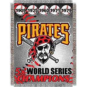 MLB Pittsburgh Pirates Commemorative Acrylic Tapestry Throw Blanket by Northwest