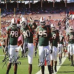 Bryan Pata, Brandon Merriweather & Baraka Atkins Autographed Miami Hurricanes...