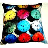 Aaiye Ghar Sajaiye Paper Satin Cushion Cover With BRIGHT COLOUR SCHEME- Set Of 5, Multi _(16 X 16 Inch)