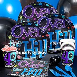 Over the hill 40th birthday party pack toys for 40th birthday decoration packs