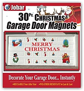 Merry christmas garage door decals home and for Christmas garage door mural