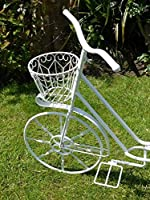Decorative Bicycle Flower Pot - Bike Cycle Planter For Garden Or Patio by Brilliant Wall Art