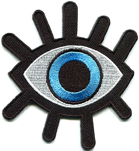 Why Choose Eye eyeball tattoo wicca occult goth punk retro applique iron-on patch