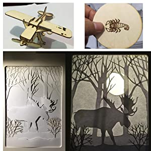 2500MW DIY CNC Laser Engraver Kits, 350x500mm Wood Carving Engraving Cutting Machine Blue Violet Light Desktop Printer Logo Picture Marking for Leather Wood Plastic (Tamaño: 35*50cm+2500mw)