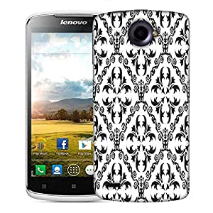Snoogg Grey Pattern Designer Protective Phone Back Case Cover For Lenovo S920