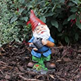 Traditonal Design Resin Garden Gnome Ornament with Watering Can