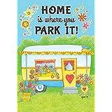 Camper Home Spring Garden Flag Floral Decorative Yard Banner 12