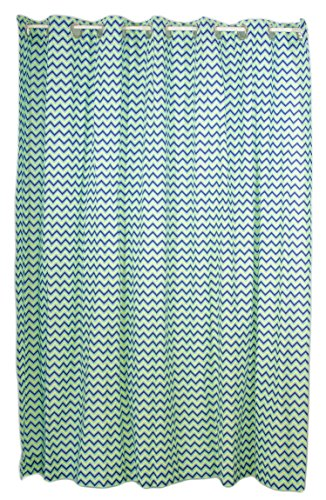 Pam Grace Creations Shower Curtain, Zigzag Elephant