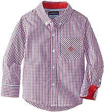 Andy amp Evan Little Boys39 Red Blue Gingham Shirt
